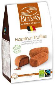 Belgijskie Czekoladki Truffle Z Orzechami Laskowymi Bezglutenowe Fair Trade Bio 100 G - Belvas