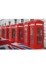 Czerwone Budki Telefoniczne - Londyn Wielka Brytania - plakat