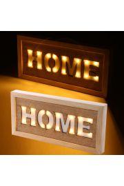 Ścienna dekoracja LED - HOME