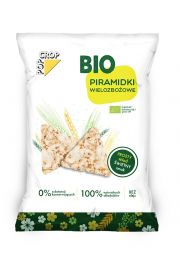 Chrupki Piramidki Z Ekspandowanych Ziaren Zbóż Bio 80 G - Popcrop