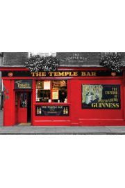 Temple Bar Dublin - Irlandzki Pub - plakat