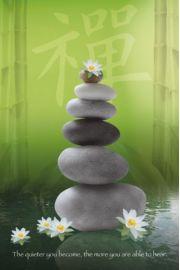 Zen Stones - Kamienie - plakat motywacyjny