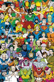 DC Comics Bohaterowie Retro - plakat