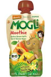Moothie - Przecier Morelowy Z Bananem, Pigwą, Wanilią 100% Owoców Bez Dodatku Cukrów Bio 100 G - Mogli