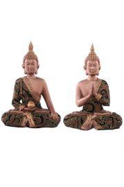Siedzący tajski budda - średni, złoty efekt