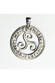 Koło runiczne z Triskelem, srebro