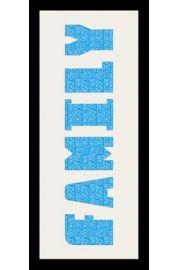 FAMILY - Rama drewniana czarna 76,5x30,5 cm