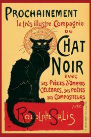 Chat Noir Steinlein - Secesja - plakat