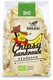 Chipsy Bananowe Słodzone Bio 150 G - Bio Planet