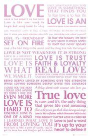 Love - Prawdziwa Miłość - plakat motywacyjny