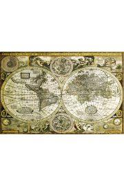 Historyczna Mapa Świata - plakat