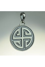 Gammadion (Svastika) - krzyż gnostyczny, srebro