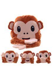 Poduszka emotikona - Małpa