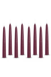 Świece z parafiny bordowe - świeczki zestaw - 8 świec