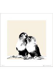 Lovebirds Papużki Nierozłączki - art print