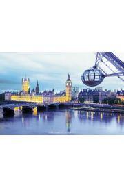 Londyn Tamiza i Parlament - plakat