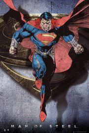 Superman Człowiek ze Stali - retro plakat