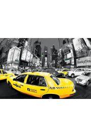 Nowy Jork Godziny Szczytu Times Square ��te Taxi - plakat