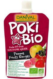 Poki - Przecier Jab�kowy Z Dodatkiem Czerwonych Owoc�w I Czarnej Porzeczki 100% Owoc�w Bez Dodatku Cukr�w Bio 90 G - Danival