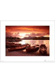 Tom Mackie Sunset Boats - art print