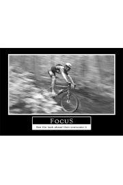 Skupienie - See the task ahead, then overcome it - plakat motywacyjny