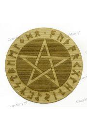 Pentagram runiczny drewniany