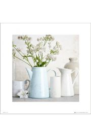 Blue Teapot Flowers - art print