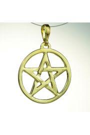 Pentagram ażurowy, pozłacany