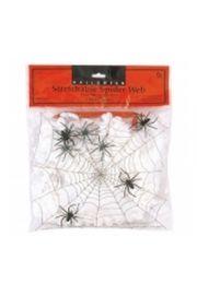 Pajęcza sieć z 4 pająkami (Halloween)