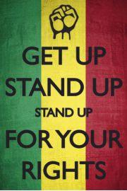 Bob Marley Get Up Stand up - plakat