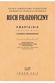 Ruch Filozoficzny. Kwartalnik. Tom LXIX. Numer 1 (2012)