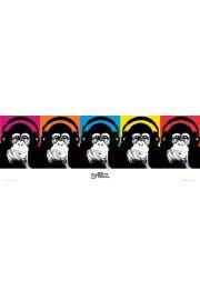 Steez Małpki w Słuchawkach - plakat
