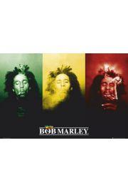 Bob Marley Rasta Flag - plakat