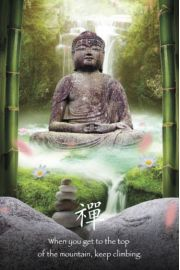 Zen Stones Budda - plakat motywacyjny