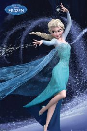 Kraina Lodu Frozen Elza Let it Go - plakat