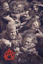 Synowie Anarchii Bójka - plakat