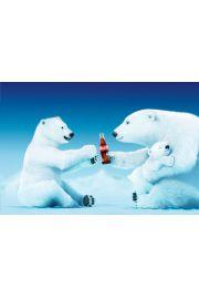 Coca Cola Misie Polarne Rodzina - plakat