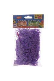 Fioletowe Gumki Loom Bands 600 sztuk