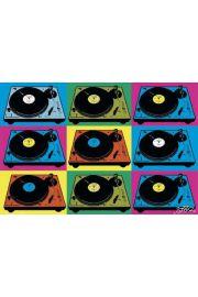 Steez - Gramofony i Winyle - Pop Art - plakat