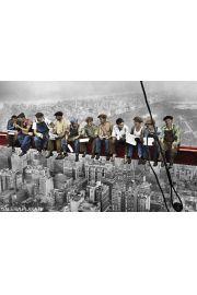 Nowy Jork Robotnicy - Lunch atop Skyscraper - plakat