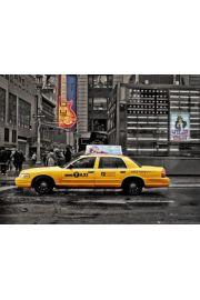 Nowy Jork - Si�dma Aleja - ��ta Taks�wka - plakat