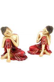 Figurka tajskiego Buddy z głową na kolanie