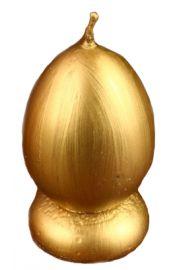 Świeca Jajko złote wosk naturalny