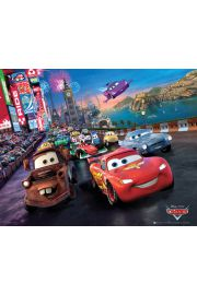 Cars 2 - Auta 2 - Wyścig - plakat