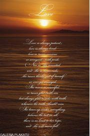 Zachód Słońca - Miłość - plakat motywacyjny