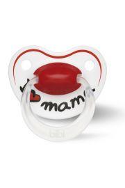 Smoczek ortodontyczny uspokajający I LOVE MAMA