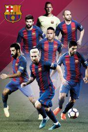 FC Barcelona Zawodnicy 2016/2017 - plakat