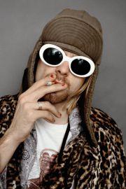 Kurt Cobain Okulary. Nirvana - plakat