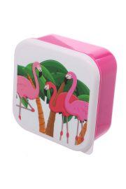 Zestaw 3 pudełek śniadaniowych - Tropikalny Flaming
