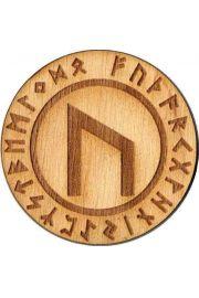 Runa Uruz 5 cm - amulet drewniany